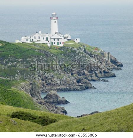 lighthouse, Fanad Head, County Donegal, Ireland - stock photo