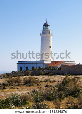 Lighthouse far de la Mola, Formentera, Balearic Islands, Spain