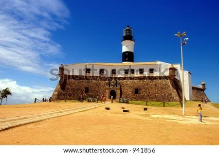Lighthouse / Fortress - Salvador de Bahia - Brazil - stock photo