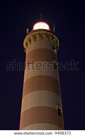 Lighthouse in Aveiro in Portugal - Barra beach at night