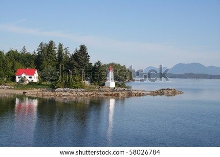 Lighthouse in British Columbia Canada - stock photo