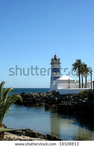 lighthouse in Cascais, typical village in Portugal