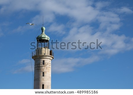 Lighthouse in Grau du Roi, Southern France