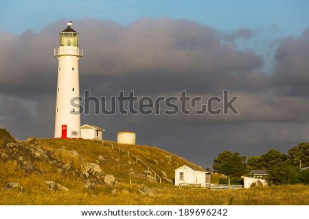 lighthouse in New Zealand - stock photo