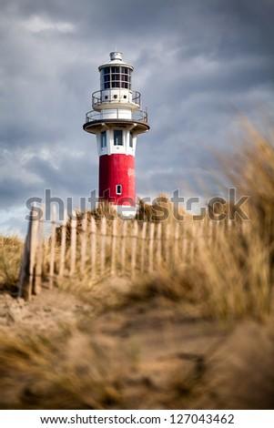Lighthouse in Nieuwpoort. Belgium. - stock photo