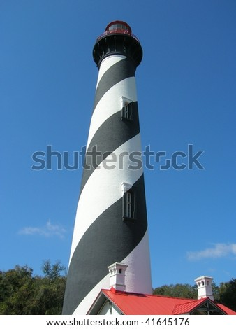 Lighthouse in St. Augustine, Florida - stock photo