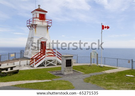 Lighthouse in St.Johns, Newfoundland, Canada - stock photo