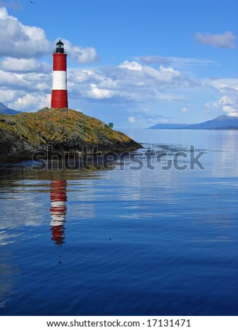 Lighthouse in the Beagle Channel Ushuaia Patagonia Argentina - stock photo
