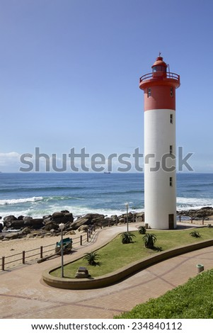 Lighthouse in Umhlanga Rocks near Durban, Natal on the East Coast of South Africa