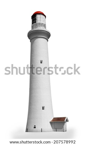 lighthouse isolated over white