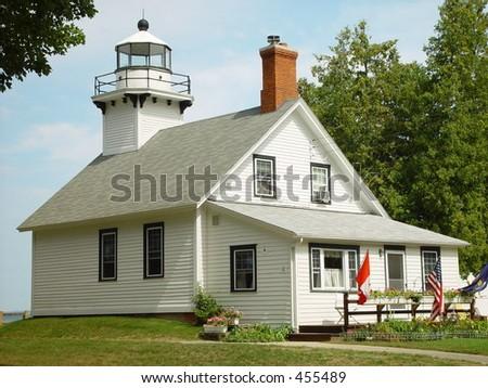 Lighthouse, Michigan - stock photo