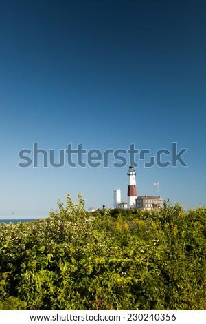 Lighthouse: Montauk Point, Long Island, New York - stock photo