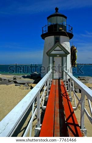 Lighthouse, Nantucket Island - stock photo