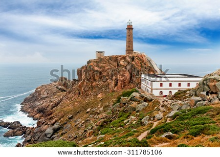 Lighthouse Of Cabo Vilan, Galicia, Spain - stock photo