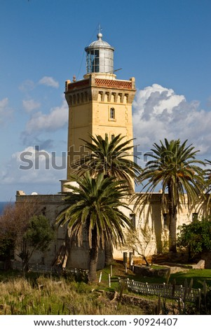 Lighthouse of Cap Spartel, Tangier Morocco - stock photo