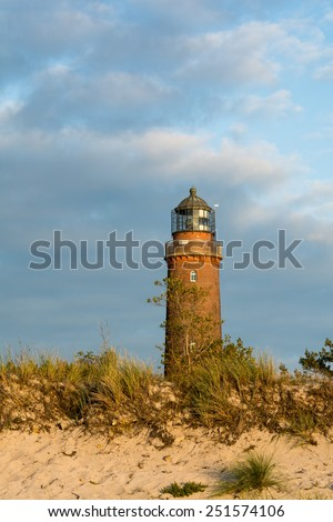 lighthouse of Darss Peninsula in Germany - stock photo