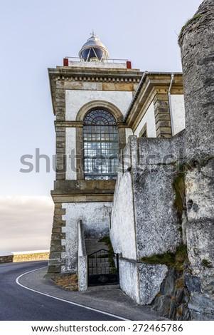 Lighthouse of Luarca, Asturias, Spain - stock photo