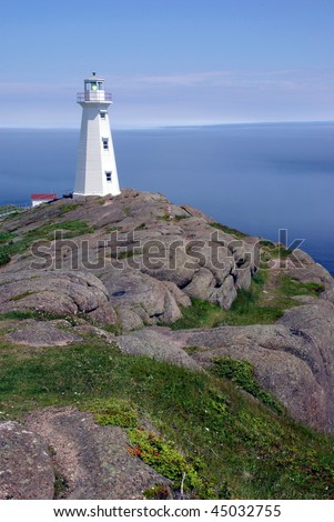 Lighthouse on the Cliff - stock photo