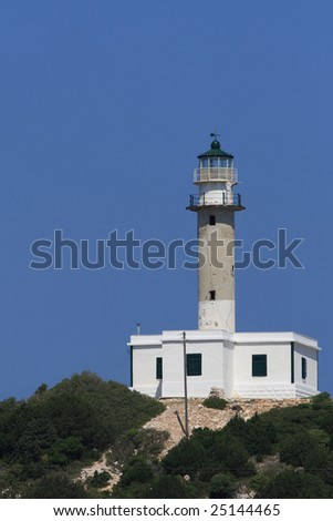 Lighthouse on the Ionian island of Kefalonia Greece