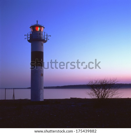 Lighthouse on the island gotland in the balticsea in Sweden.JH