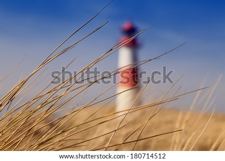 Lighthouse on the island of Sylt, Germany - stock photo