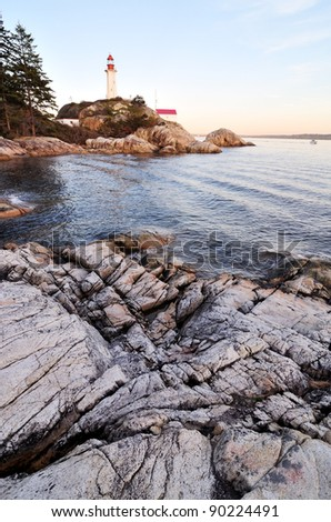Lighthouse Park in West Vancouver, BC, Canada - stock photo