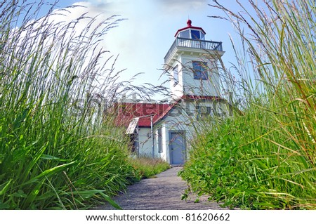 Lighthouse, San Juan islands, Washington - stock photo