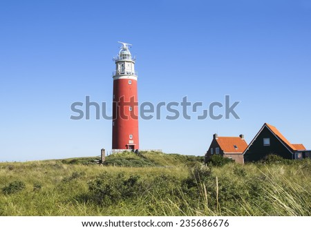 Lighthouse Texel - stock photo