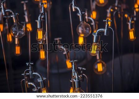lighting design - stock photo