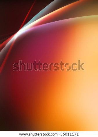 Lighting Effect wave Background  Color spectrum made by distorted stripes illustration - stock photo