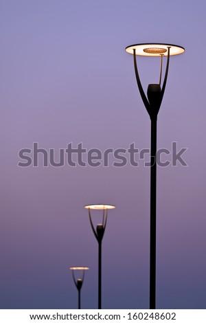 lighting equipment in street - stock photo