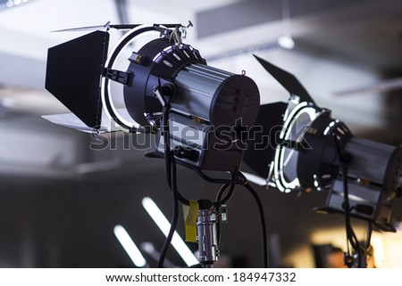 Lighting equipment two lamps - stock photo