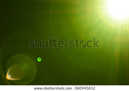 Lighting green flare abstract - stock photo