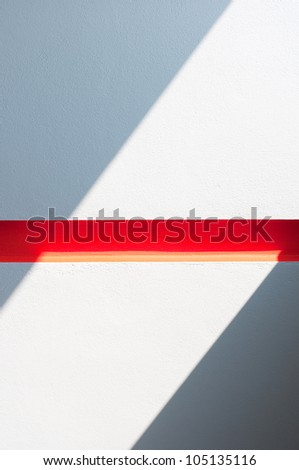 lighting of the red barrier - stock photo