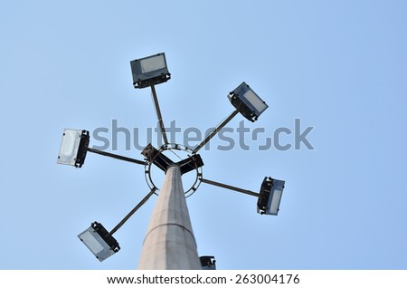 Lighting tower from low angle.