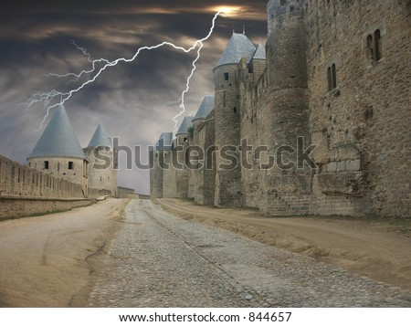 Lightning Alley - stock photo