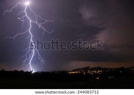 lightning at night
