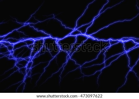 Lightning bolt on black background