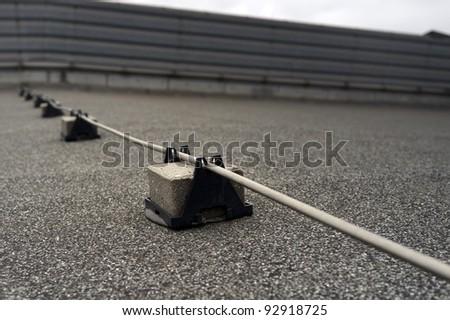 Lightning conductor rod - stock photo