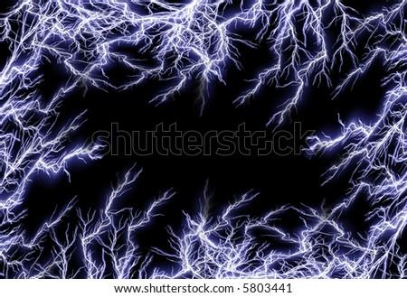 Lightning frame - stock photo