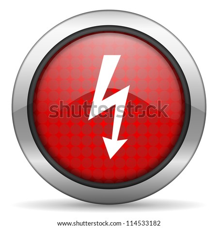 lightning icon - stock photo