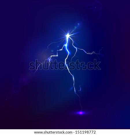 Lightning. Raster version.  - stock photo