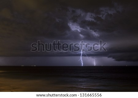 Lightning storm North Beach Perth Western Australia