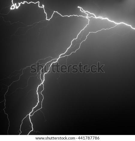 Lightning Strike Black and White