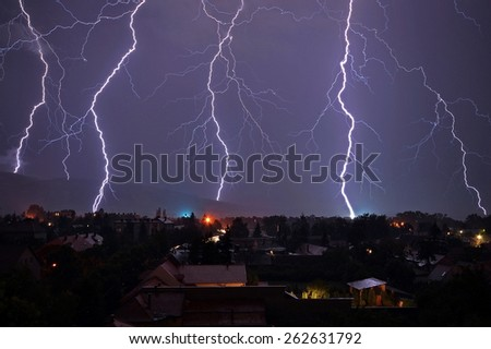 Lightnings - stock photo