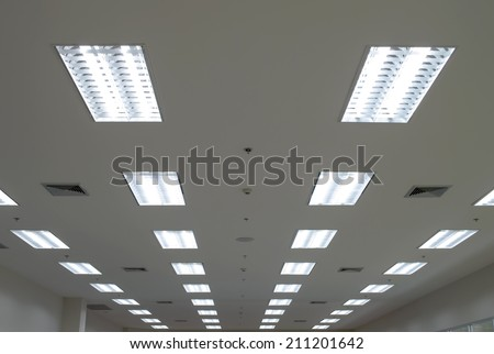 Lights from ceiling  - stock photo