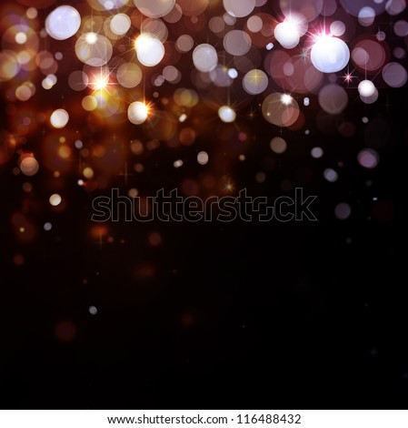 Lights on black background - stock photo