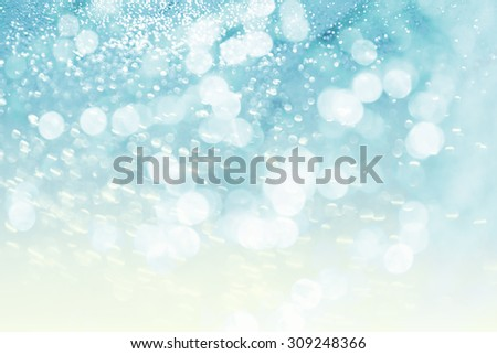 Lights on blue background - stock photo