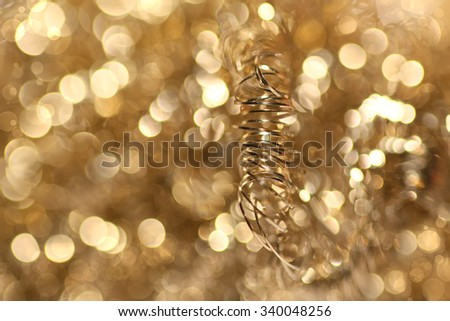 Lights on grey Silver Christmas background.  Christmas Background. Golden Holiday Abstract Glitter Defocused Background With Blinking Stars. Blurred Bokeh  - stock photo