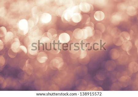 Lights on purple background. - stock photo